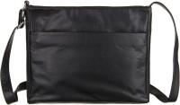 Goodwill Leather Art Men Black Genuine Leather Sling Bag
