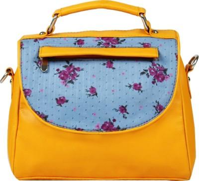 Borsavela Women Yellow PU Sling Bag