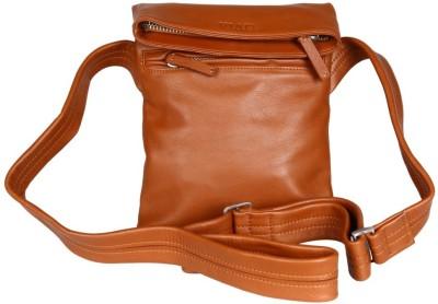 Viari Men Casual Tan Genuine Leather Shoulder Bag