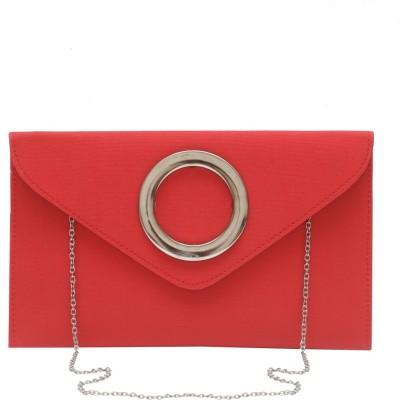 Stylesaga Girls Red Rexine Sling Bag