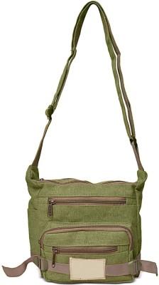 Roshiaaz Boys, Girls Green Canvas Sling Bag
