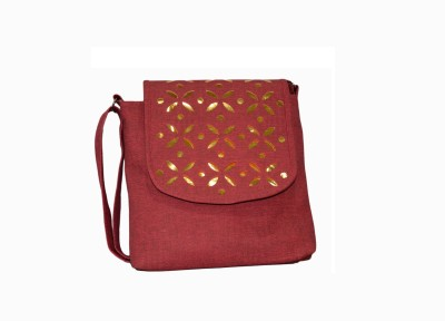 Vedic Deals Girls, Women Pink Canvas Sling Bag