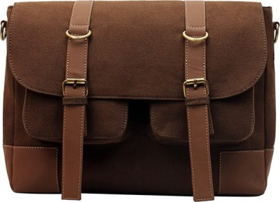 Purseus Men Casual Brown Canvas Sling Bag