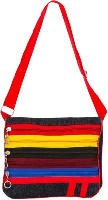 Bigzee Girls, Women Casual, Formal Multicolor Canvas Sling Bag