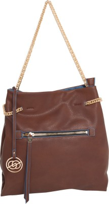 Elespry Women Brown, Blue PU Sling Bag