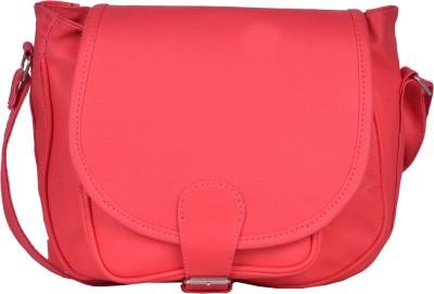 Prettyvogue Women Pink PU Sling Bag