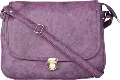 Voaka Girls, Women Purple Leatherette Sling Bag