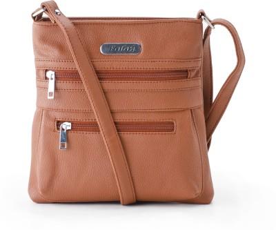 Falah Bag Works Women Tan PU Sling Bag