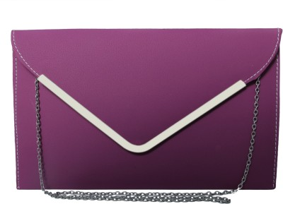 Heels And Toes Women Purple Leatherette Sling Bag