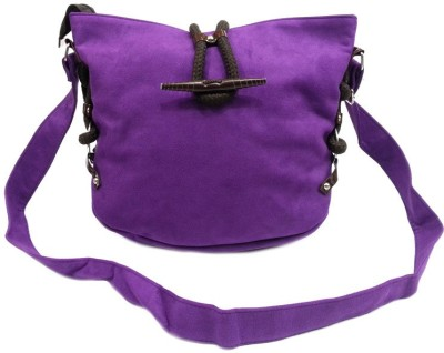 Belladona Girls Purple PU Sling Bag