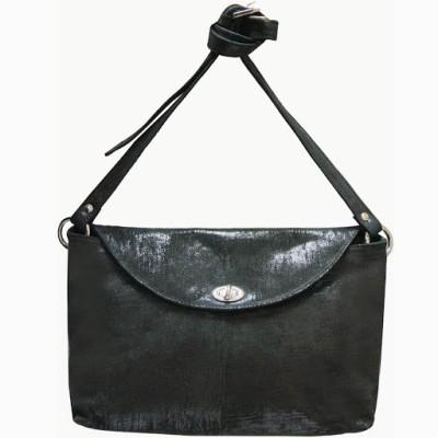 Jeane Sophie Women Evening/Party Black Genuine Leather Sling Bag