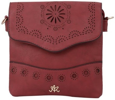 Aarushi Khurana Women Maroon, Red Leatherette Sling Bag