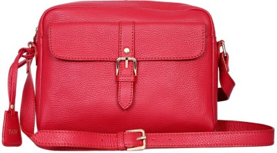 Taws Women Formal Red Genuine Leather Sling Bag