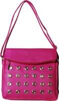 Aagaman Fashion Women Pink Rexine Sling Bag