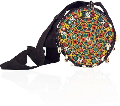 Little India Women Casual Multicolor Cotton Sling Bag