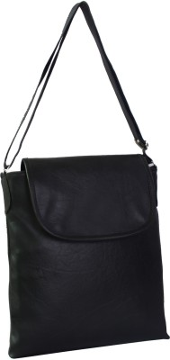 New Zovial Men, Women Formal Black PU Sling Bag