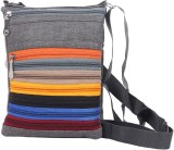 Mela Women Grey PU Sling Bag