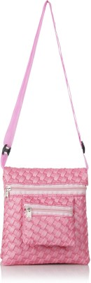 Acute Girls, Women Pink Genuine Leather Sling Bag