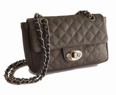 Gripp Girls, Women Grey Genuine Leather Sling Bag