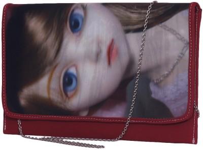 Notbad Girls Casual Maroon PU Sling Bag