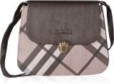 Felicita Women Brown, White PU Sling Bag