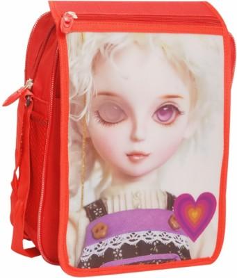 Oril Girls Red Polyester Sling Bag