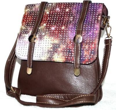 Steal Dee Style Women Brown PU Sling Bag