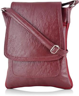 Rosemary Girls Casual Maroon PU Sling Bag