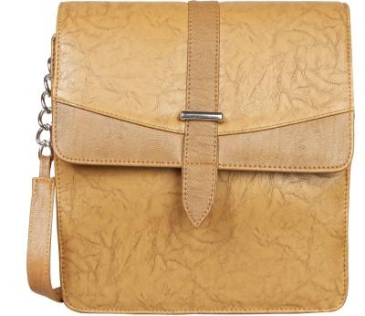 Louise Belgium Girls Brown Leatherette Sling Bag