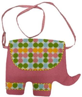 Always Kids Girls Casual, Evening/Party Pink Felt Sling Bag