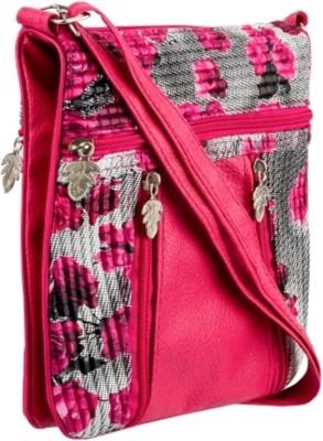 Glitters Girls Pink Rexine Sling Bag