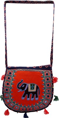 Rastogi Handicrafts Women Casual Blue Cotton Sling Bag