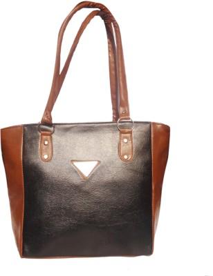 WEEBILL Women Black, Tan PU Shoulder Bag