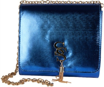 Young & Forever Girls Casual, Evening/Party, Festive Blue PU Sling Bag