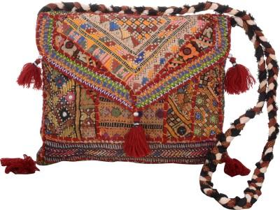 Arisha kreation Co Women Red Cotton Sling Bag