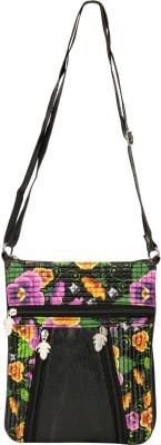 Glitters Girls Black Rexine Sling Bag