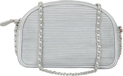 AQ Women Silver PU Sling Bag