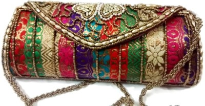 Trend Overseas Women Multicolor Silk Sling Bag