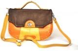 Dhruva Women Casual Orange Genuine Leath...