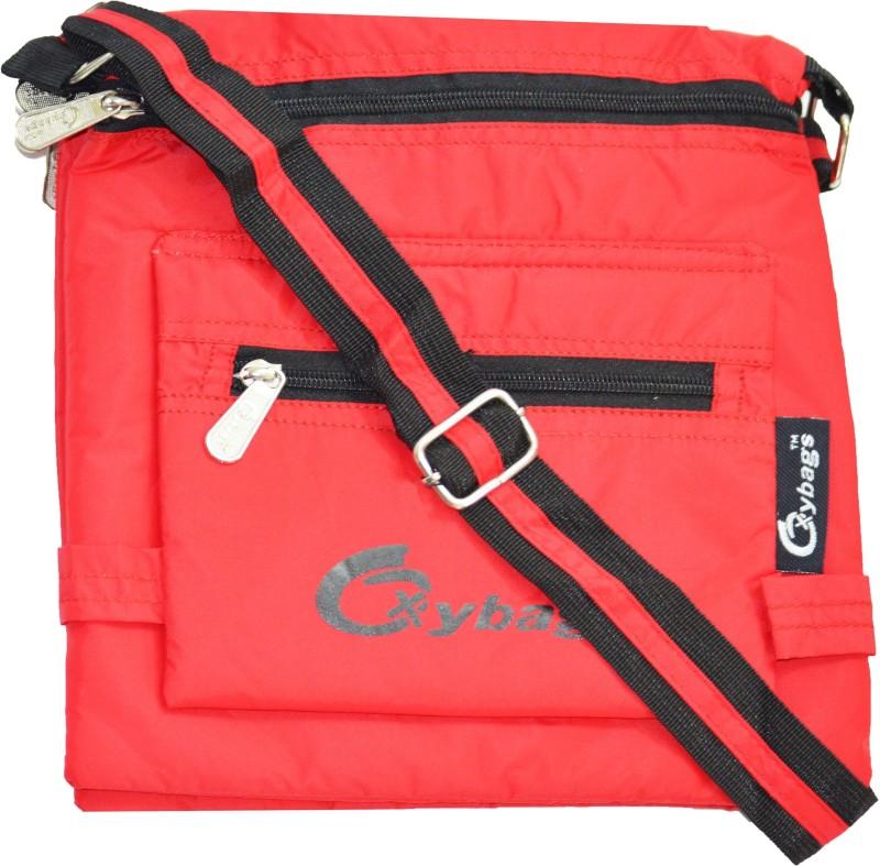 JG Shoppe Women Casual Red Nylon Sling Bag Alpha