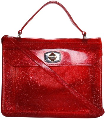 Fashion Knockout Women Casual Red Silicon Sling Bag