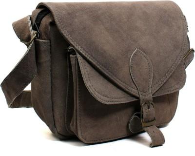 Hobo Women, Girls Grey Genuine Leather Sling Bag
