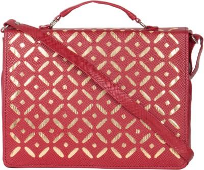 MTE Girls Maroon Leatherette Sling Bag