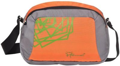 Hawai Men, Women Grey, Orange Polyester Sling Bag