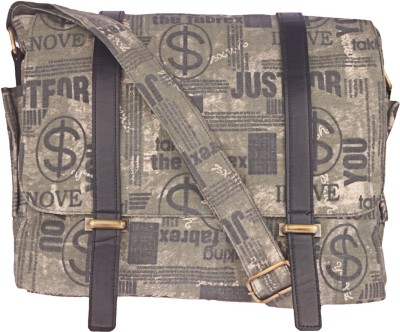BagsRus Men, Women Casual Grey Canvas Sling Bag