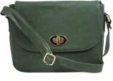 Berryvelve Women Casual Green PU Sling B...