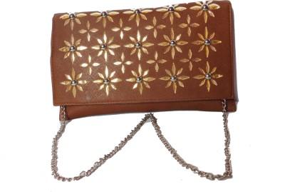 JTM Trading Girls Brown PU Sling Bag