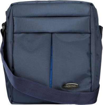 Aoking Men, Boys Formal Blue Nylon Sling Bag