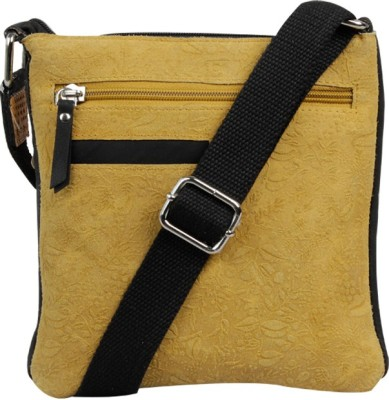 Hunt Women Casual Khaki Genuine Leather Sling Bag