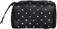 BLUR Women Black Leatherette Sling Bag
